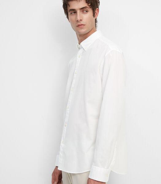 Regular overhemd met lange mouwen in bedford kwaliteit