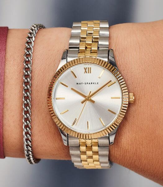 City Chique Horloge zilverkleurig MSE005