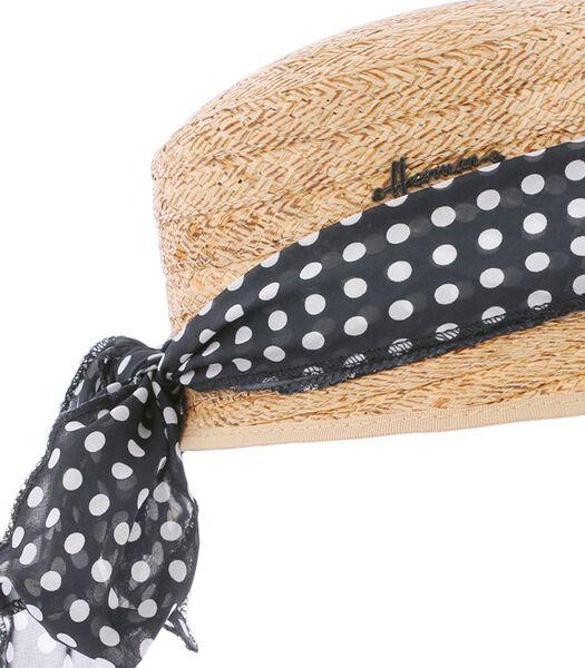 CONQUEST 025 - Strooien pet met decoratief sjaaltje