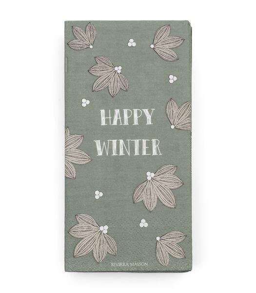 Serviette en papier Happy Winter