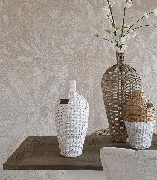 RM Water Hyacinth Vase white