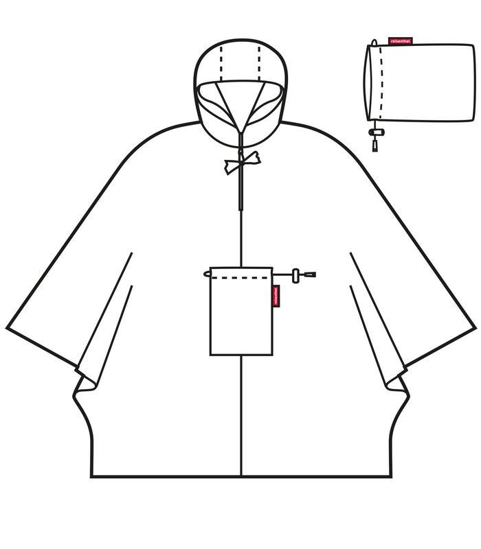 Mini Maxi Poncho - Regenponcho - Dots Zwart image number 3