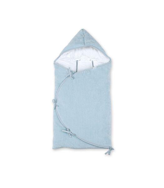 Engelennestje 0-4m blauw grijs pady velvet