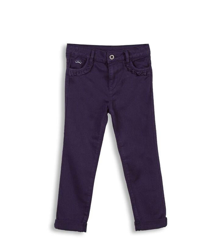 Slim jeans met ruches image number 0