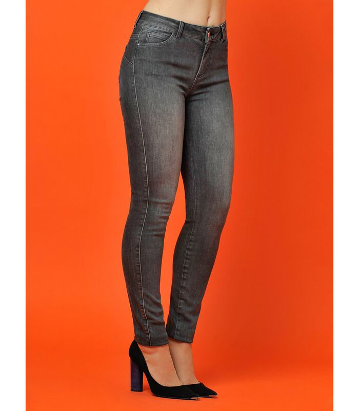 Jeans slim taille haute STREET image number 3