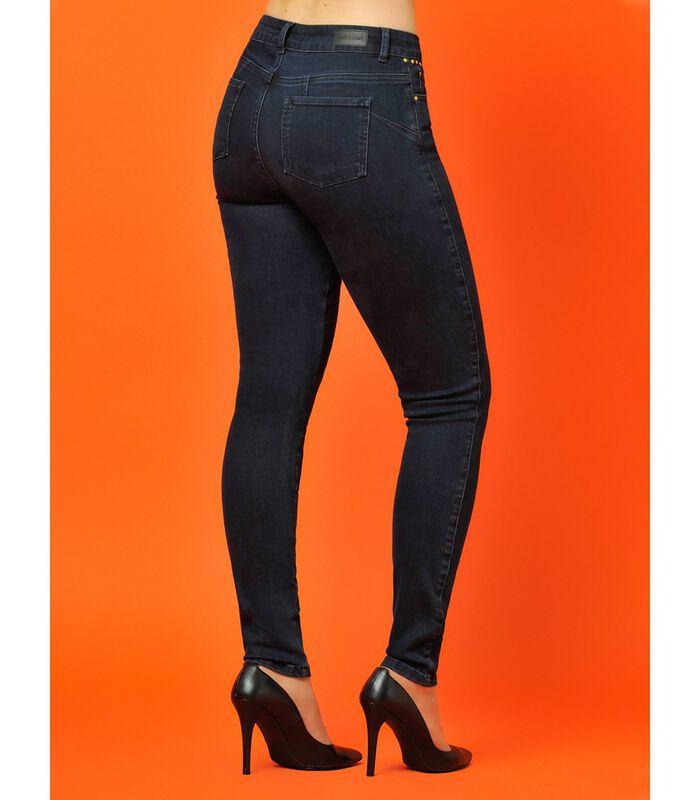 Ruwe jeans met zakken met studs ZOOM image number 4