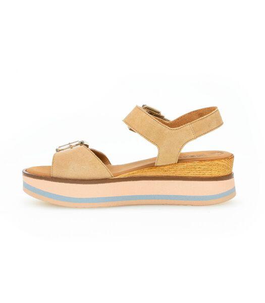 Suède sandalen