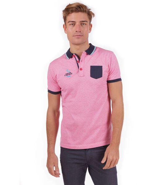 Rugbypolo gechineerd roze
