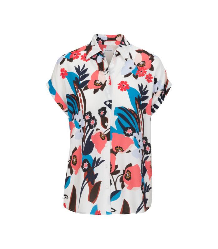 Shirtblouse Bloemen Zonder mouwen Kraag image number 0