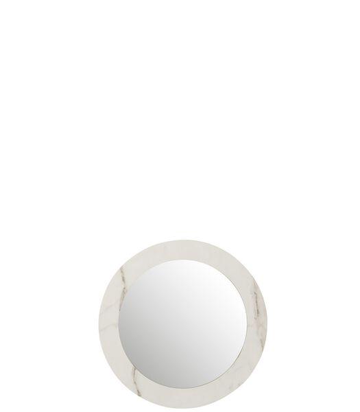 Miroir Marbre Mdf/Verre Blanc Small