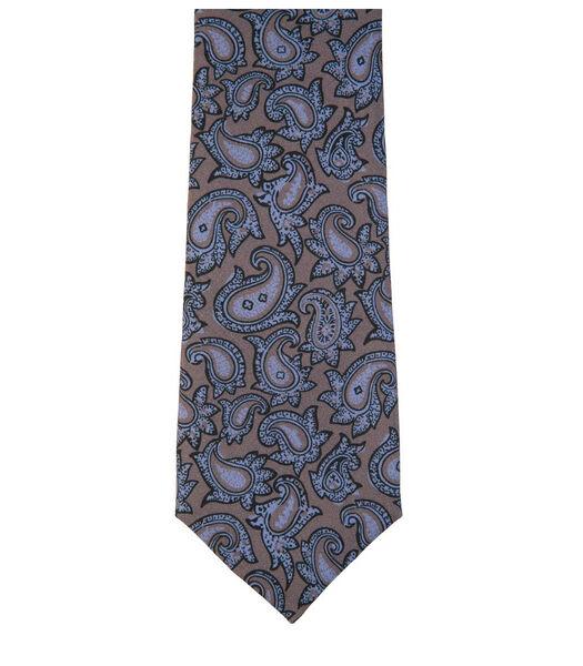 Cravate à motifs cachemires en soie