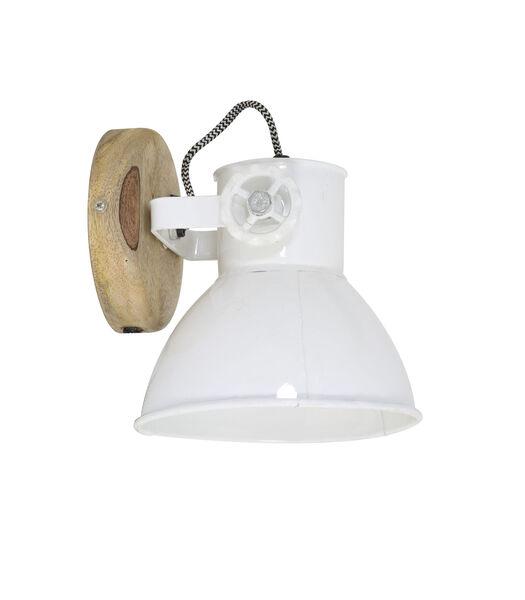 Wandlamp Elay - Hout/Wit