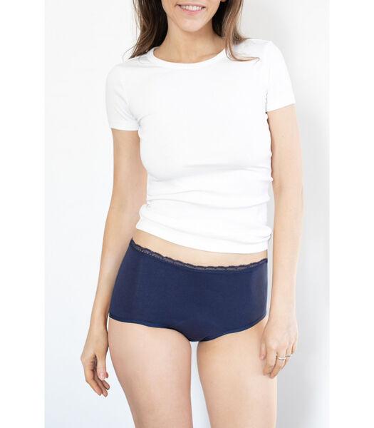 Hoge menstruatieonderbroek BIEN ÊTRE donkerblauw