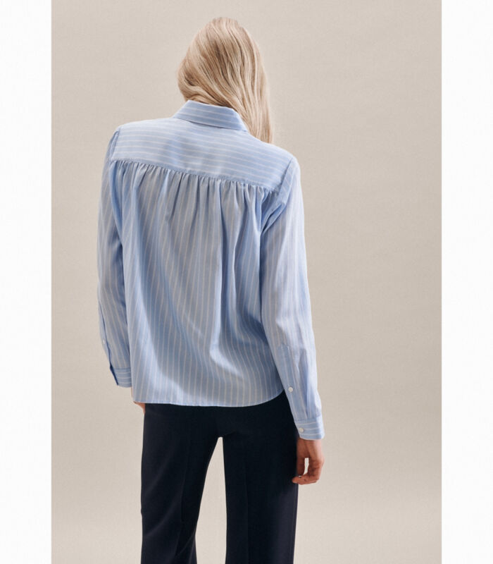 Shirtblouse Strepen Lange mouwen Kraag image number 1