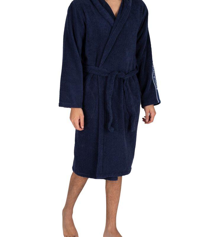Actieve geweven badjas met capuchon image number 1