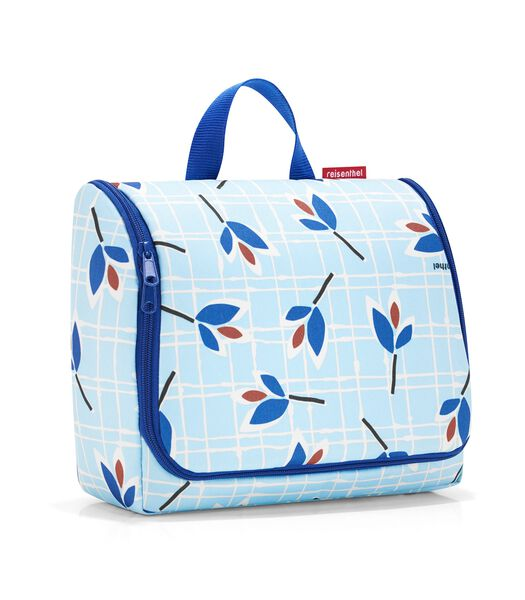 Toiletbag XL - Toilettas - Leaves Blue Lichtblauw
