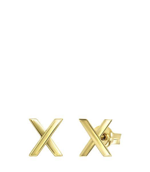 Boucles d'oreilles en or jaune 14 carats X