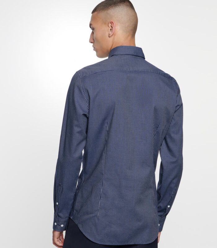 Overhemd Slim Fit Lange mouwen Strepen image number 1