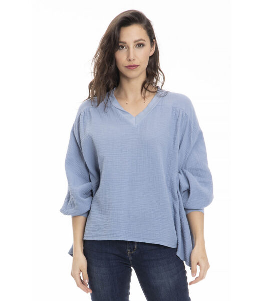 CHILA-Blouse v-hals extra groot