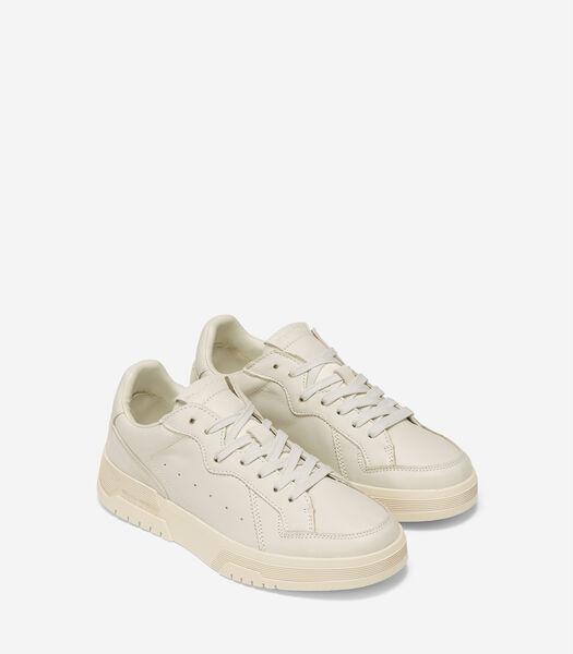 Court sneakers met uitlopende cupzool