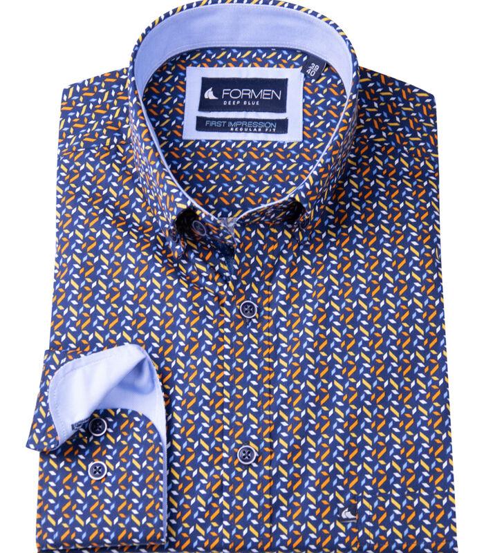 Hemd met fris abstract motief image number 2
