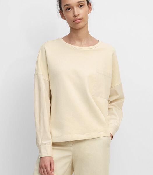 Sweatshirt met blouseachtige mouwen