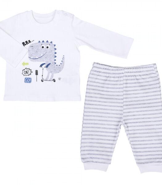 Pyjama bébé 2 pièces en coton bio, DINO TRAFIC
