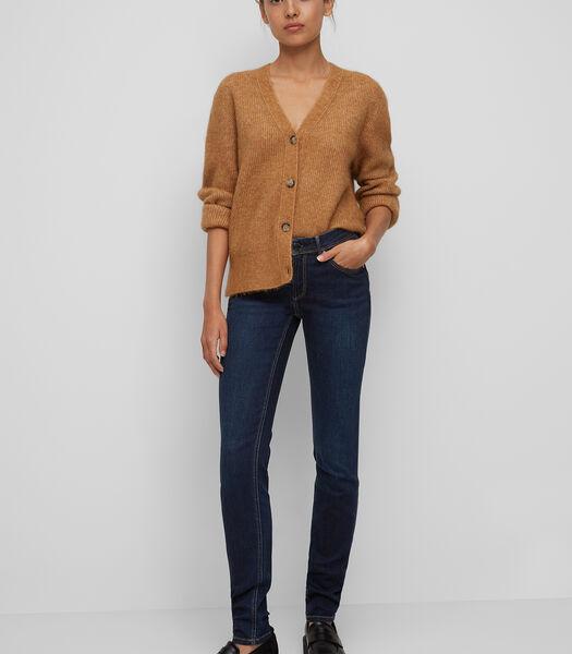 Jeans model ALVA slim van een mix met organic cotton