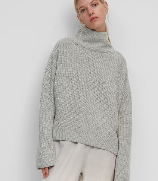 Pull-over à col roulé en laine de cachemire luxueuse