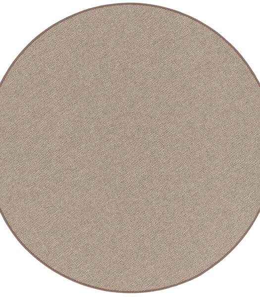 Taff - Tapis Optique Sisal Nature - Noix - Rond