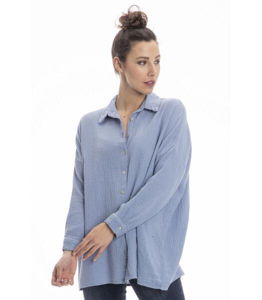 CHELY-Blouse hemdkraag extra groot