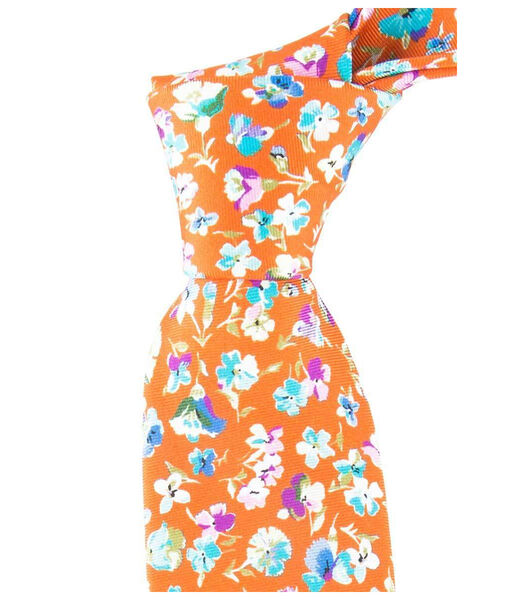 Cravate à fleurs printanières en soie