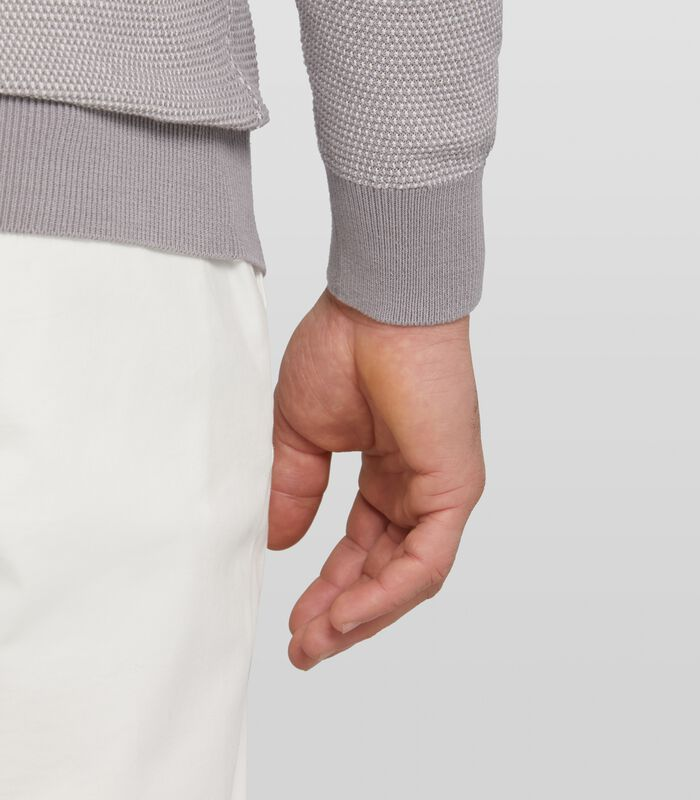 gemeleerde pullover Carnell van katoen image number 2