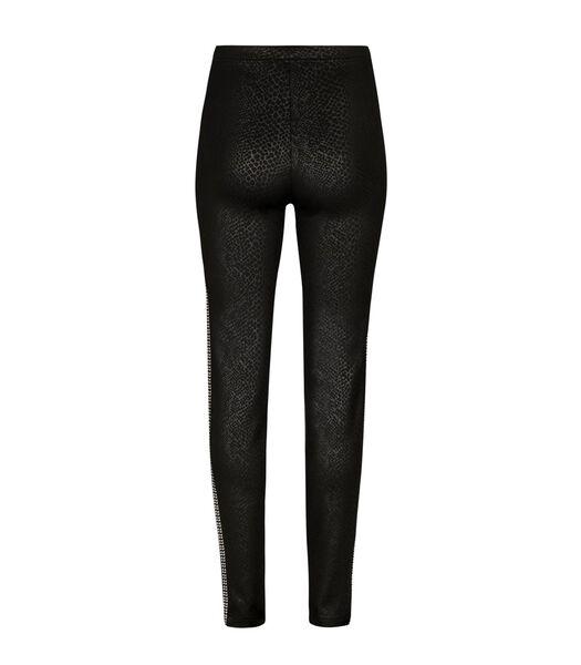 IKON stretch broek met opdruk