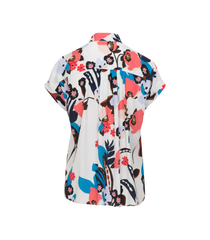 Shirtblouse Bloemen Zonder mouwen Kraag image number 1