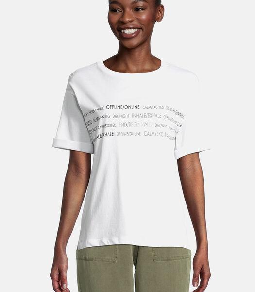 Basic shirt met print