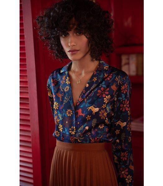 Pyjama kraag blouse