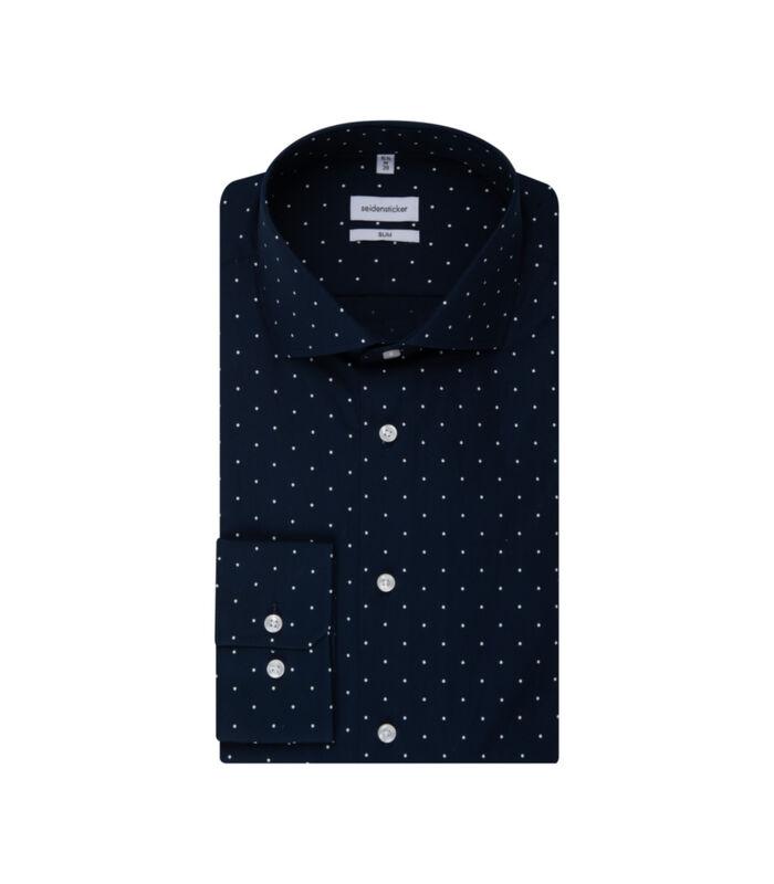 Overhemd Slim Fit Lange mouwen Stippen image number 4