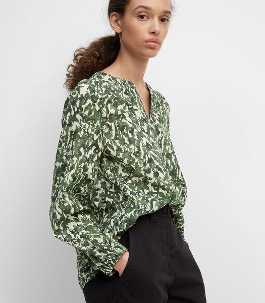 Tuniek-blouse van organic cotton-voile