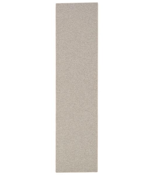 Bentzon - Tapis de couloir naturel laine tissé à plat
