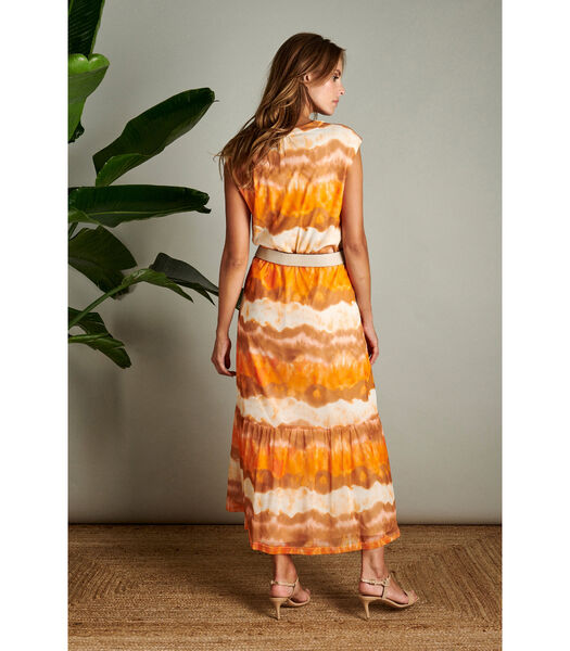 Maxi jurk in gebrande tinten