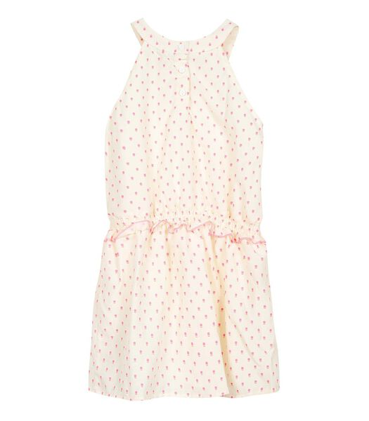 Geprint jurk zonder mouwen