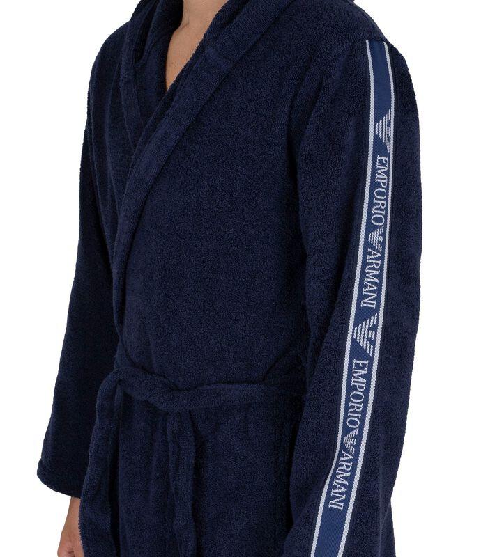 Actieve geweven badjas met capuchon image number 3
