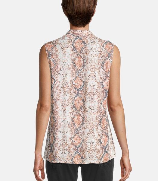 Haut façon blouse à imprimé