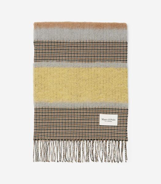 Sjaal met exclusieve alpacawol