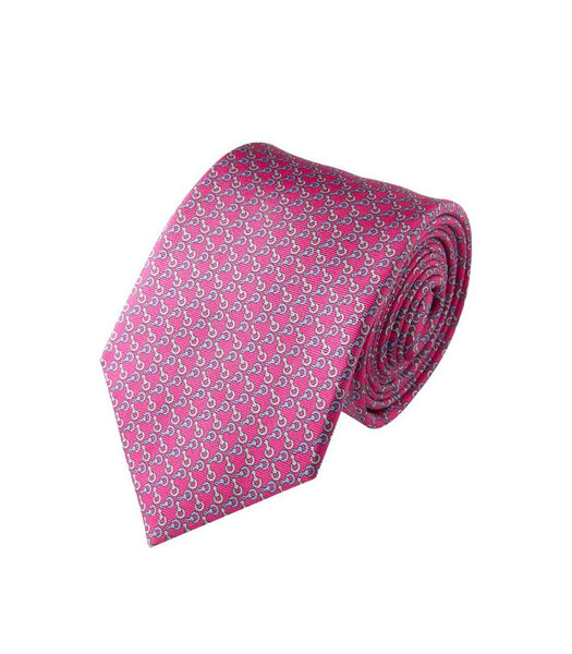 Cravate motifs mailles en soie
