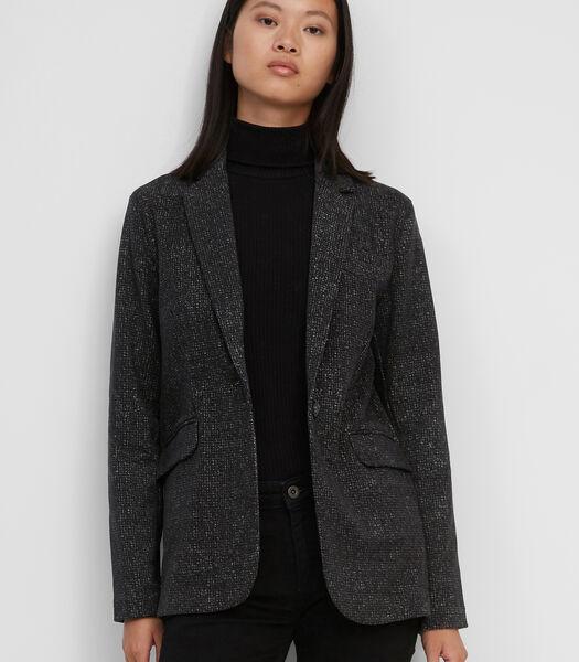 Jersey blazer van organic cotton met stretch