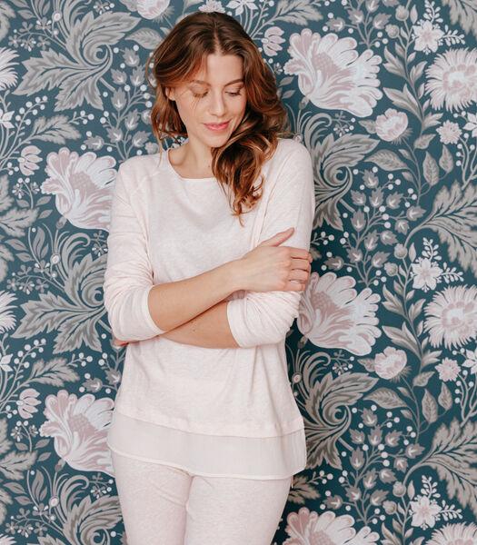 Pyjama van katoen en zijde jersey, KARYN