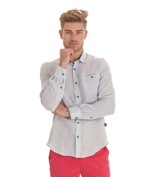 Overhemd met lange mouwen in linnen