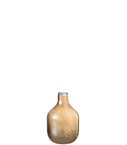 Vaas Amber Glas Goud Small